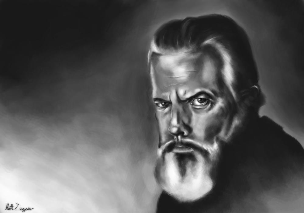 Orson Welles Portrait.