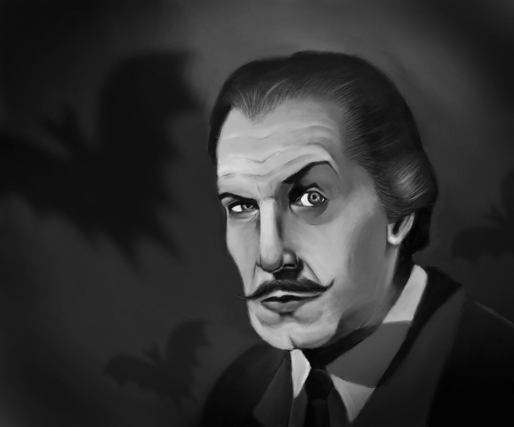 Vincent Price portrait.