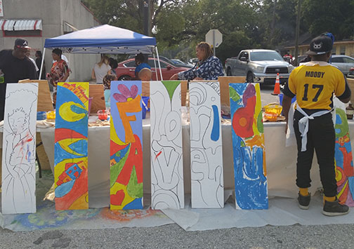 Open Air Arts Market Community Painting Project.