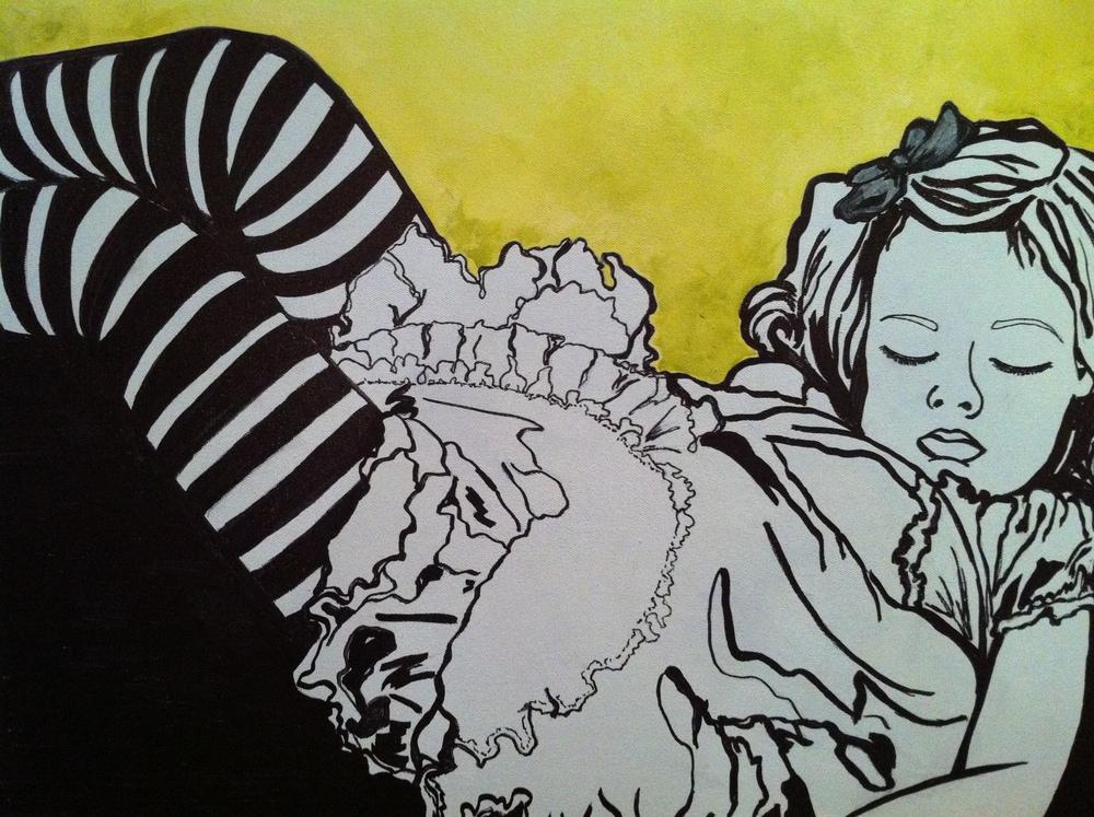 """Ruby (Green/Gold)"" 2012. 24x24."