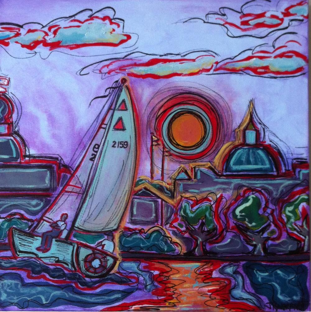 """""""Sail #2159: Annapolis"""" 2013 20x20 SOLD"""
