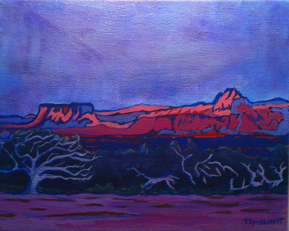 """""""Behind Zion: Dancing Tree"""" 2013 8x10 Driftwood Frame $SALE!"""