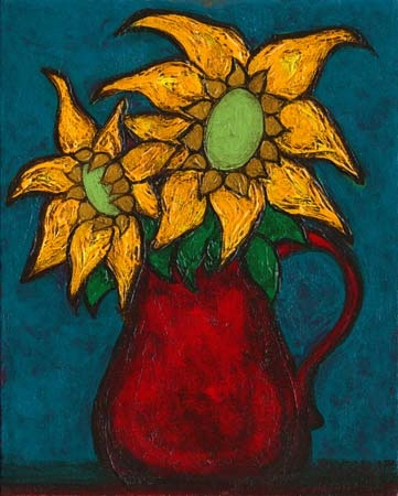 """Sunflowers #4"" 2006 8x10 Sold;"