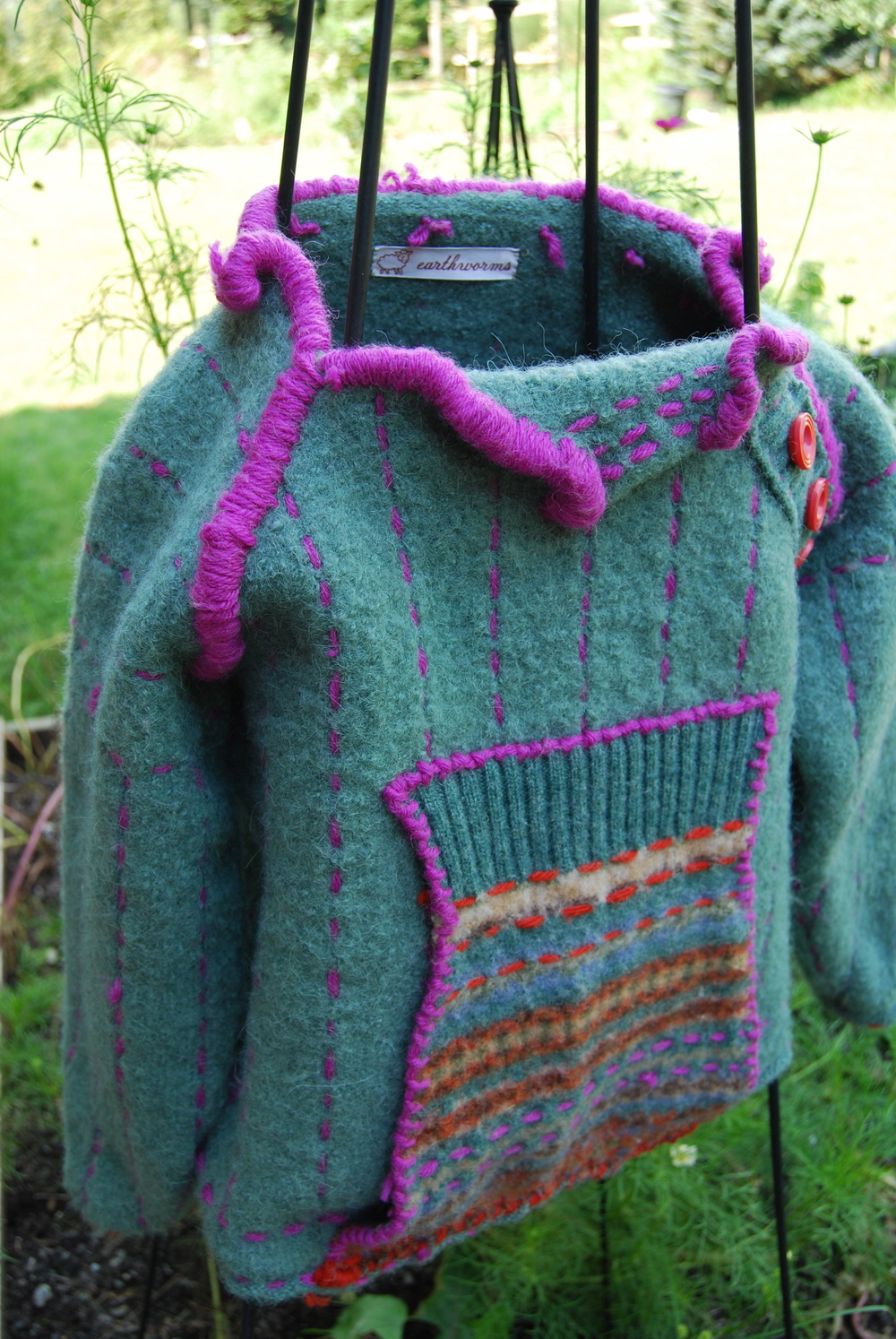 Tulip Collar Sweater; Boiled Alpaca. Sold