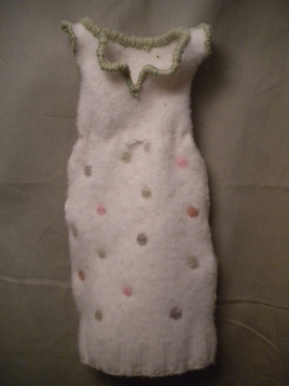 Felted Cashmere Christening Gown. Sold.