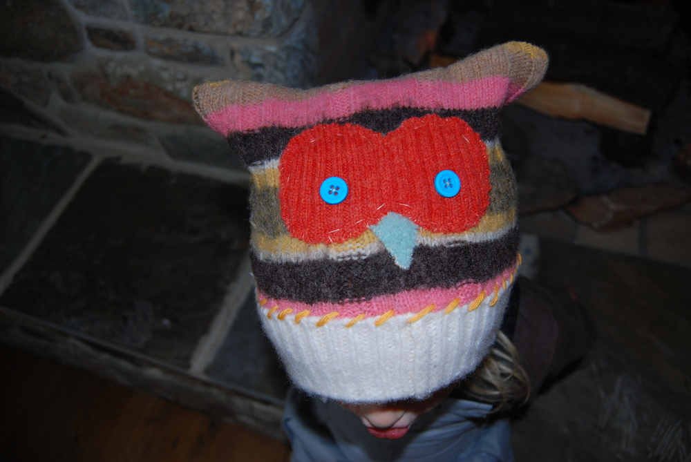 Who Who Wool Hat. Child 5-8. Special Order.