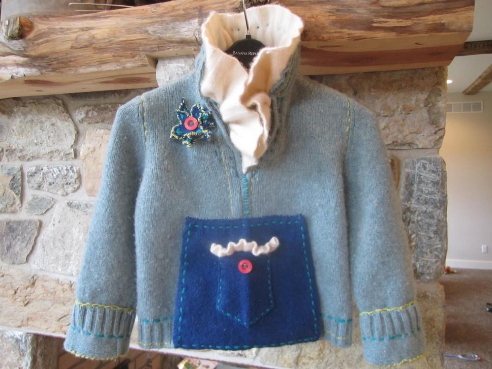 Victorian Cashmere Collar Pullover. Girls 4-6. $150