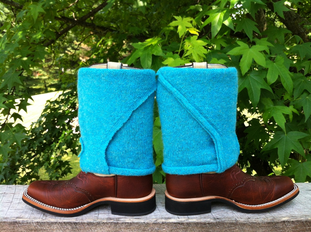 Recycled Wool Boot Sleeves. $50. This pair is sold. Special orders available.