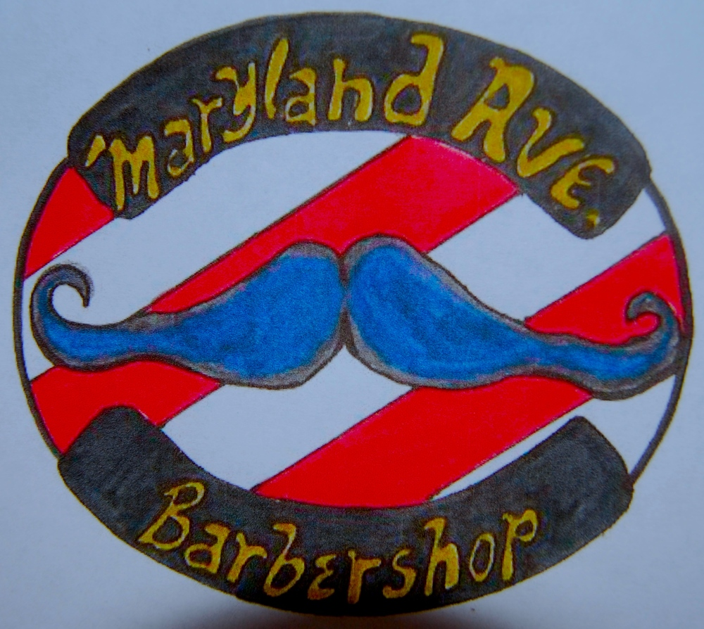 Rough sketch/concept for logo for Capistrano's Barbershop, Annapolis, Maryland