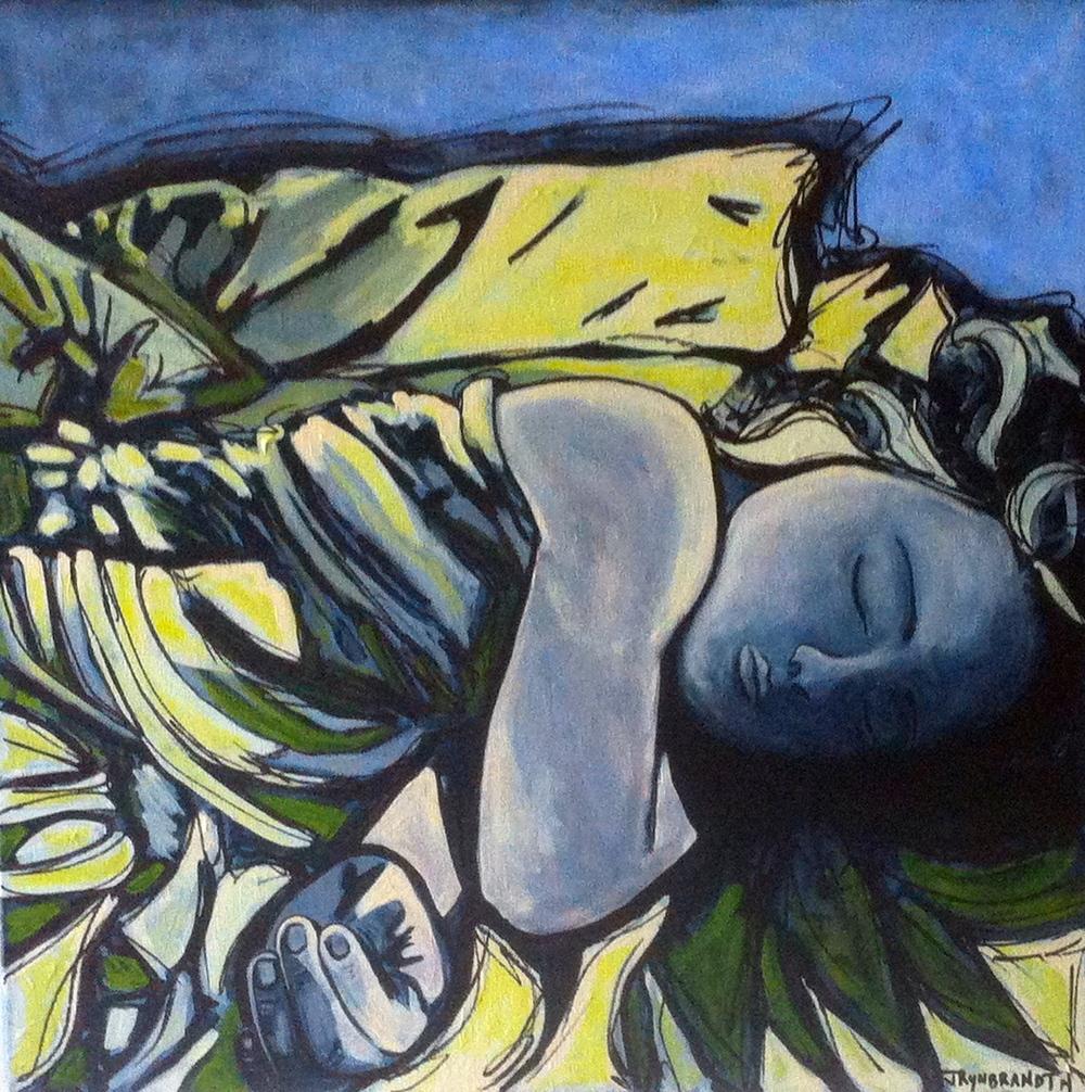 """Yellow Haired Girl"" 2014 20x20 $600"