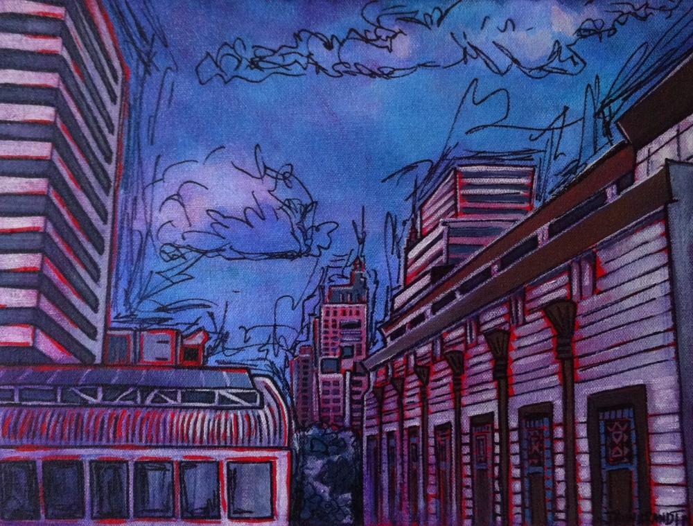 """Art Deco Building, Bangkok"" 2014 12x16 SALE"
