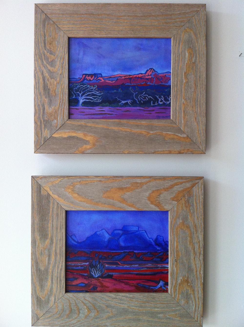 Behind Zion Pair 8x10, Driftwood Frame