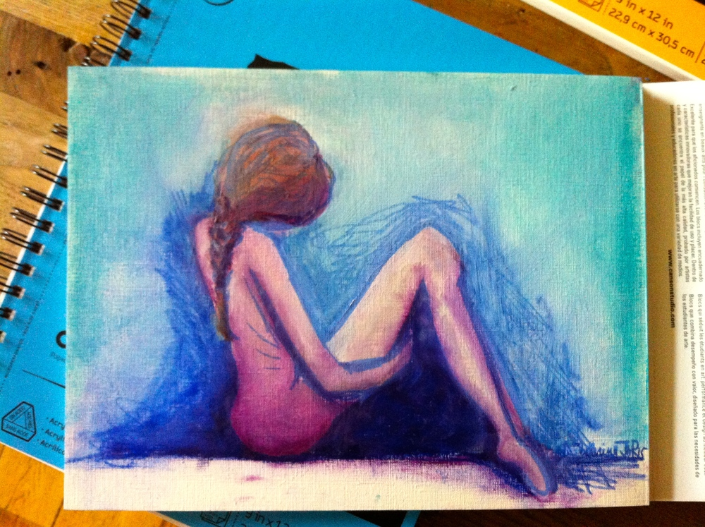 Ballerina- A quick pastel sketch in my kitchen with new Frenchie highbrow  pastels.