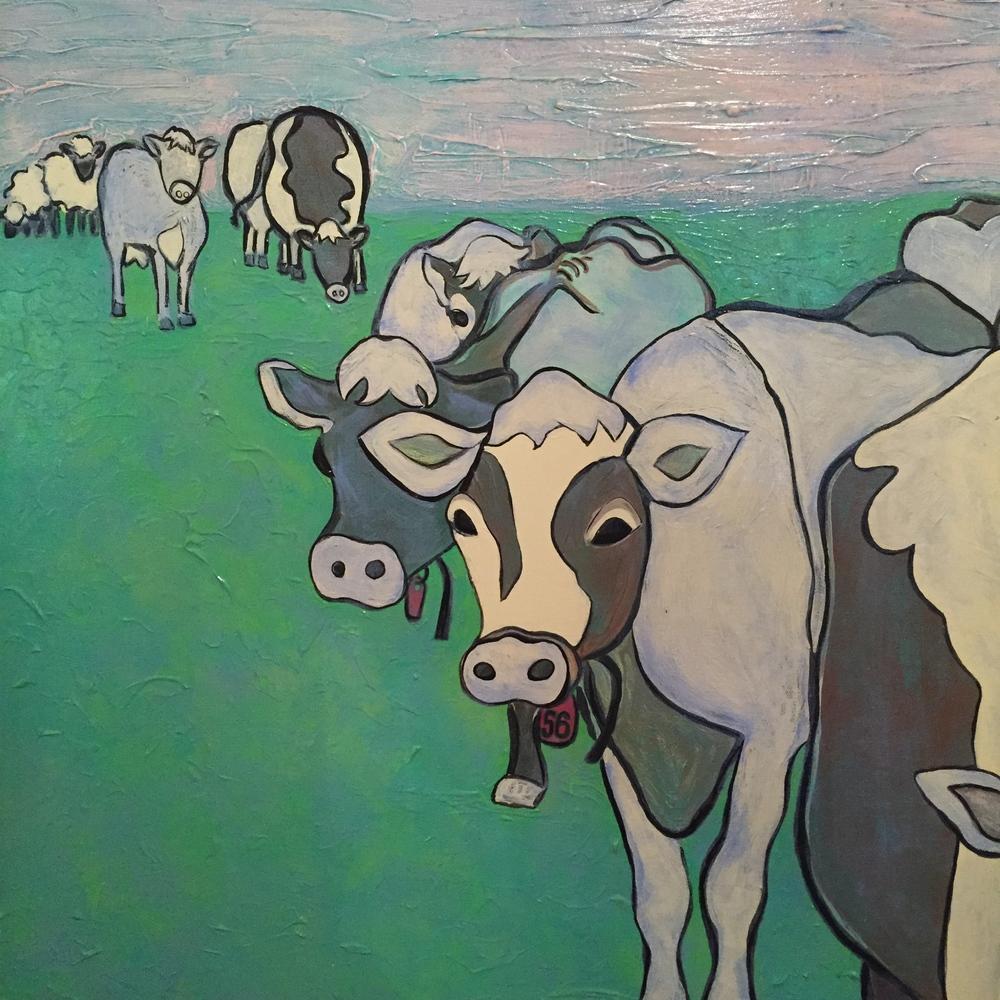 """""""Tag #56"""" 2005 Acrylic on Canvas"""