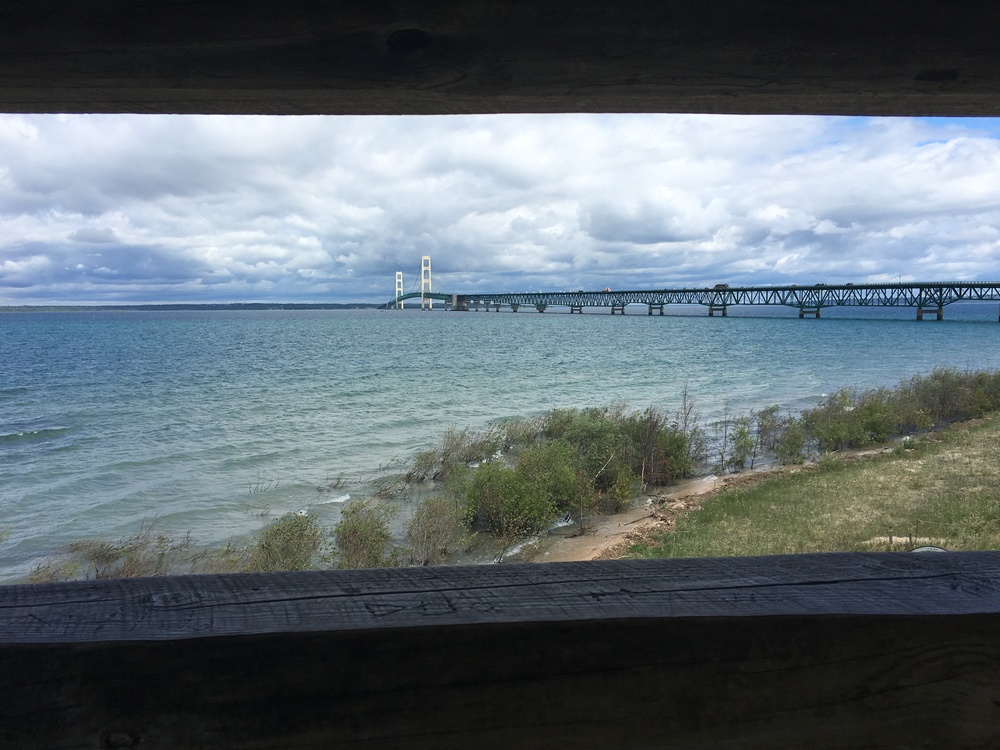 Nice view of Mackinac Bridge...