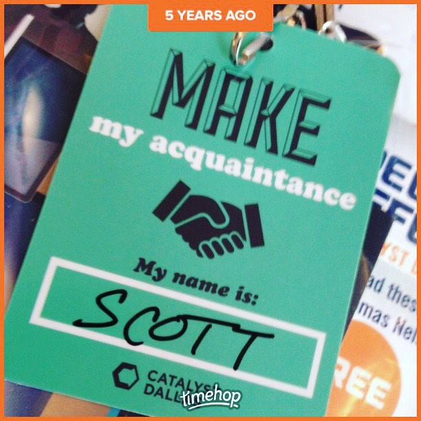 5 years ago today I attended @catalystleader conference for the first time. Excited to be at #catalystatl in October!