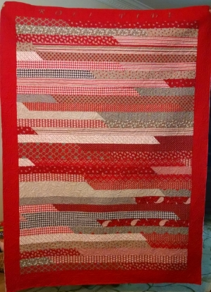 Alabama, pieced by Deborah H, quilted by RM 2017