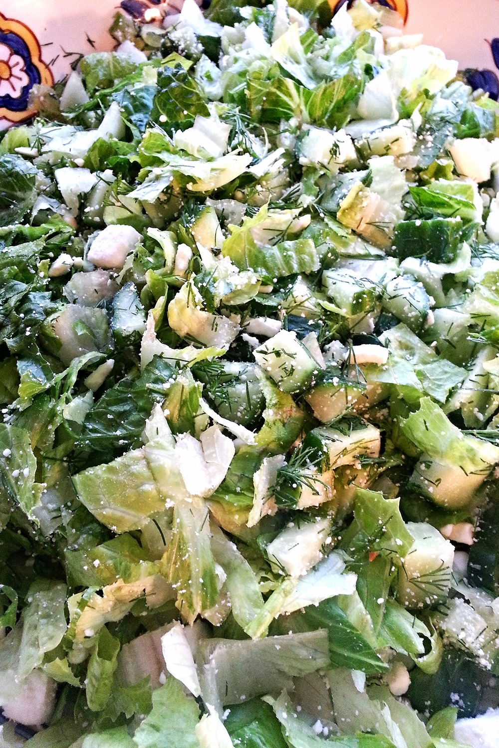 "My version of ""Prasini Salata"" :  Greek Green Salad"