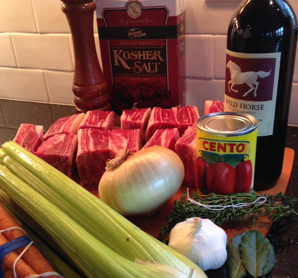 Braised Ribs Ingredients