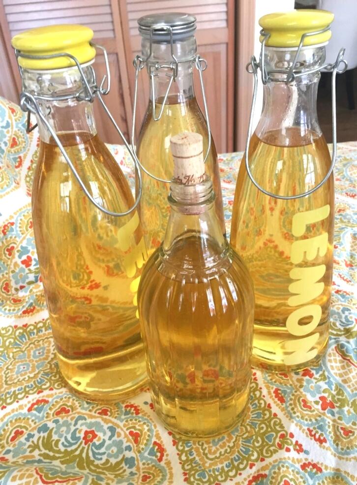 lemon, limoncello bottles.JPG