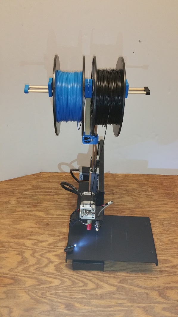 Dual Spool Holder for a Printbot Simple.