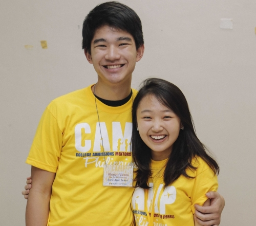Alonzo Virata (Stanford '15) and Moonie Sohn (NYU Abu Dhabi '17), members of CAMP's Executive Team.