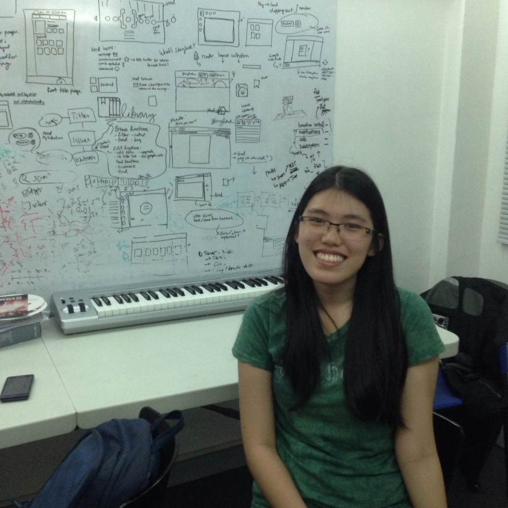 Intern Alyssa Ty hard at work at Sari Software Solutions.