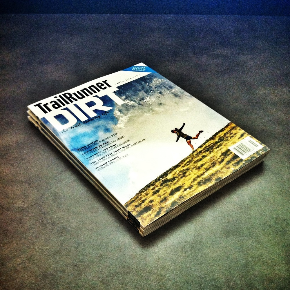 The DIRT Annual by Trailrunner.  One of my proudest design projects ever. Make sure you pick up a copy soon. Trail running documented like you've never seen before.
