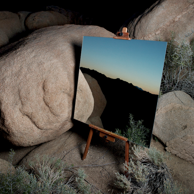 One of the coolest, most original ideas in landscape photography I've seen in a while.     http://danielkukla.com/The-Edge-Effect     http://www.fastcodesign.com/1671069/a-mirror-lends-a-new-view-on-californias-joshua-tree#1