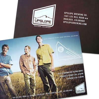 Upslope Photoshoot    This image was selected from a location shoot I did with my friends at  Upslope Brewing .  Anthem Branding  designed the promo card. Card looks great, but Upslope beer tastes even better! Pick some up at your local Boulder micro beer seller.