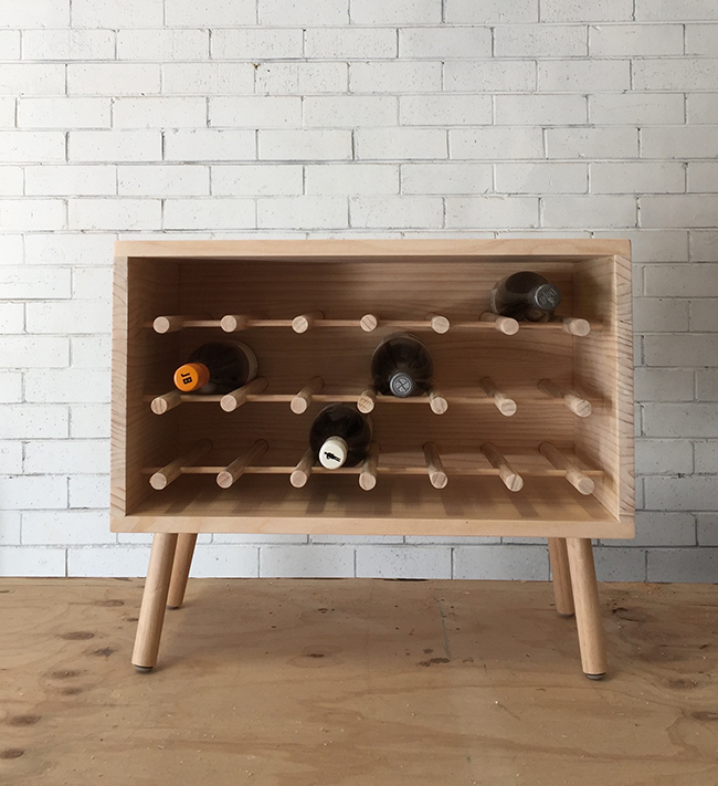 Diy Dowel Wine Rack Little Red Industries