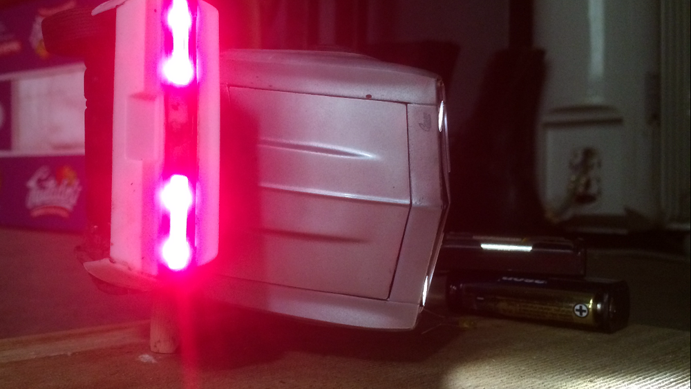 FIRST TAILLIGHTS TEST  (pre-dimming)