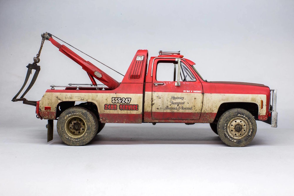 1977 GMC Wrecker (1/24 scale).  Built by Dmitri Bogdanov