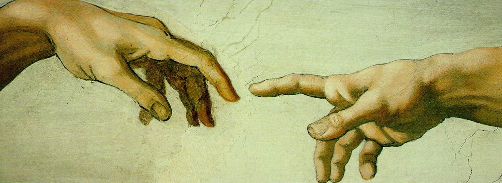 Hands of Adam and God, Sistine Chapel: (1508 - 1512), by artist Michaelangelo.