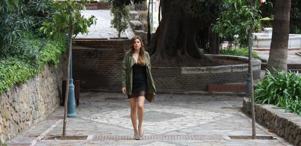 GABRIELA MERINO VERDE MILITAR Y VESTIDO LENCERO VERANO 2014