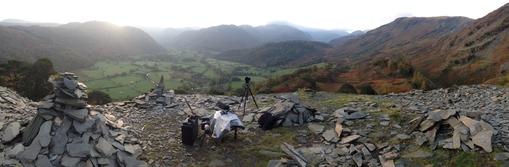 Shooting for 'A Dog and A Stick' continues in Cumbria.