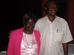 Sam Mubbala Consultant for the Lugwere Bible Translation, with his wife Susan.