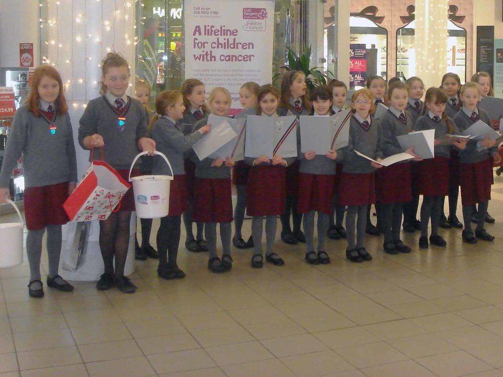 CAG girls and Prep 5 fundraising for CLIC Sargent