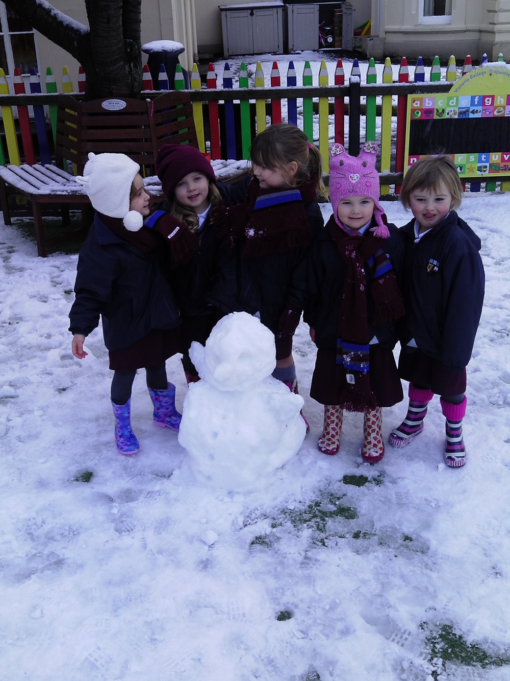 We worked together to build our snowman!