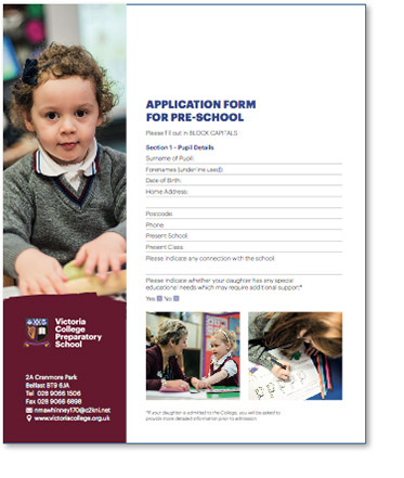 Pre-School Application Form