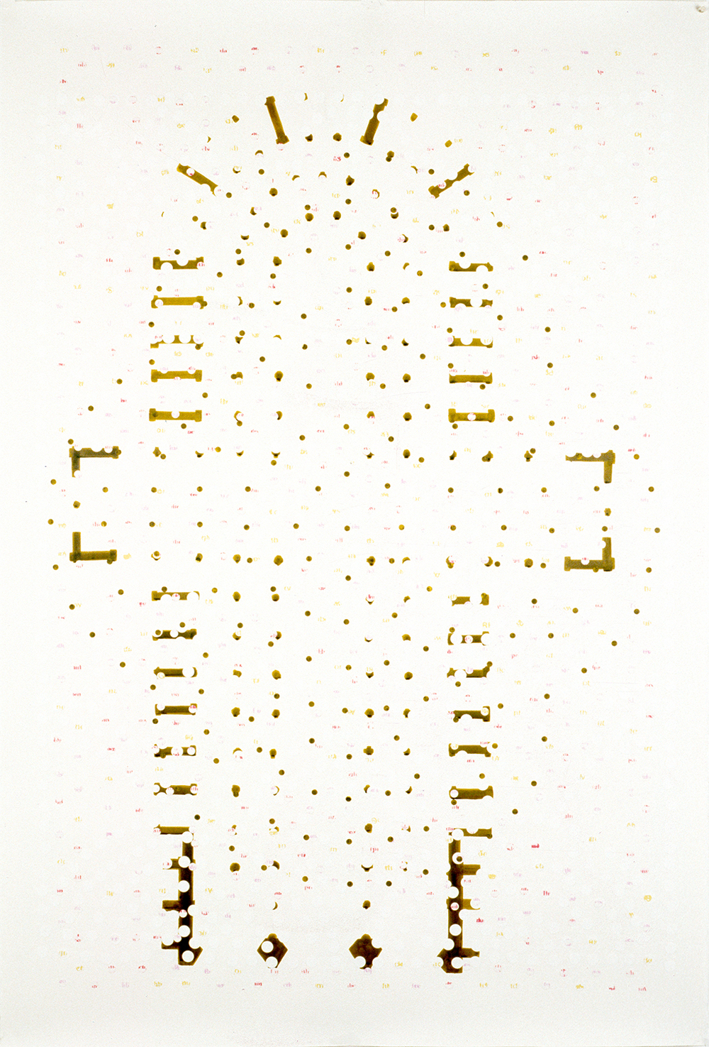 "Untitled ,  2006,  ink and archival inkjet collage on paper, 42 1/2"" x 66"""