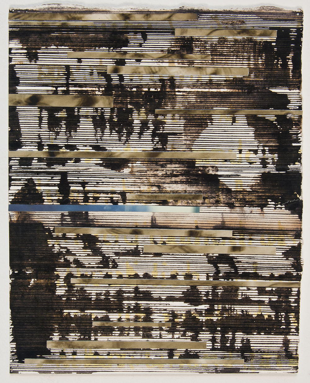 "dither  , 2010,  ink and archival inkjet collage,   6 1/2 "" x 8 1/4"""