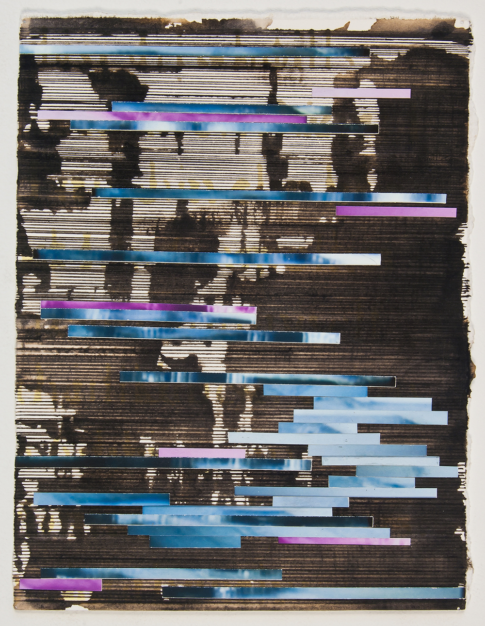 "untitled, 2010,  ink and archival inkjet collage,   6 1/4"" x 8 1/4"""