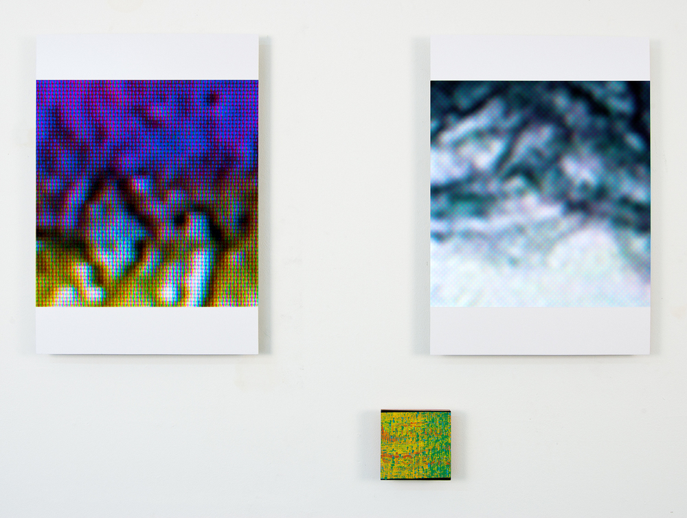 il deserto rosso: luminous visions,  2011,  oil on panel, archival inkjet prints on 2 aluminum panels,   dimensions variable