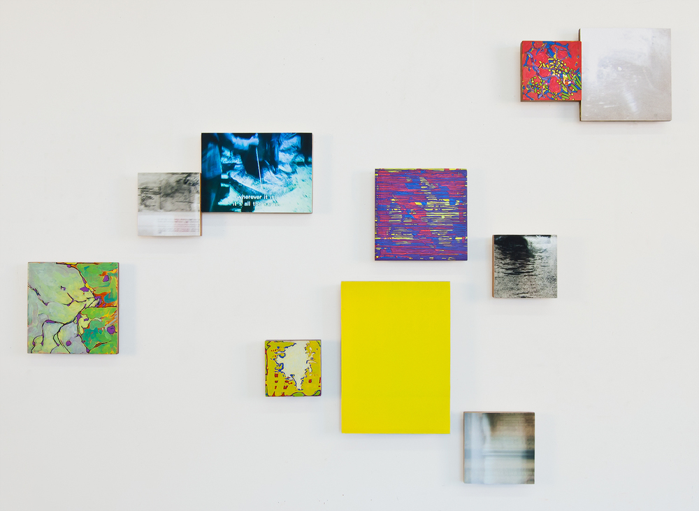 Wherever it is  , 2010,   oil and archival inkjet prints on 10 panels   dimensions variable