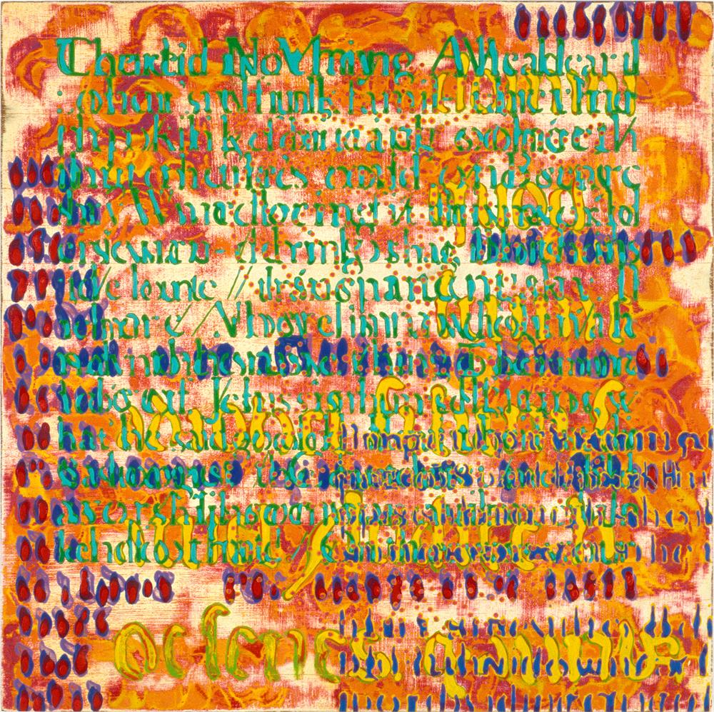 "Slippy 4 , 2004, oil on panel, 19"" x 19"""