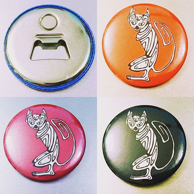 Some new magnets bottle openers are coming to the Art Collective tomorrow. What's your favourite colour?  See a cool range from local artists at 139 Princes Street.  #Art #abstract #cats #modernart #graphicart #edinburgh #artinburgh #artcollective #artist #artists