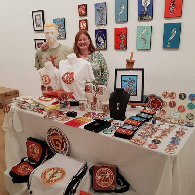Are you in Edinburgh today? Drop by the @fruitmarketgallery for the Littles Market and say hi at the Ingingerness stall. Lots to entertain the wee ones including book readings, music, craft activities and I'll have my badge maker today! 10-6pm...see you there!