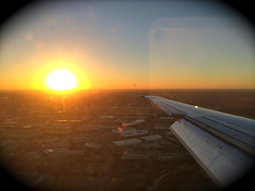 Flying into Vegas.
