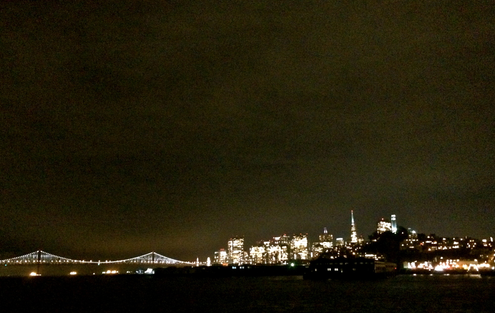 View of San Francisco by night.